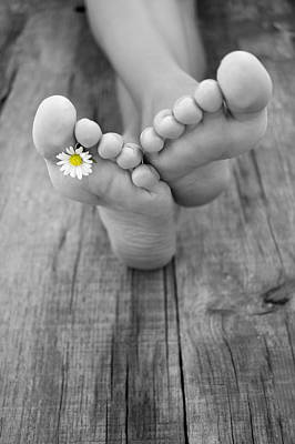 Summer Flowers Photograph - Barefoot by Aged Pixel