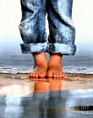 Digital Art - Barefoot Boy   by Dale   Ford