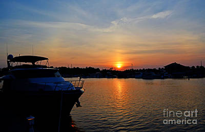 Photograph - Barefoot Landing Sunset by Kathy Baccari