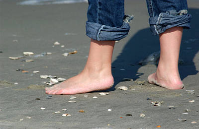 Photograph - Barefoot On The Beach by Bob Pardue