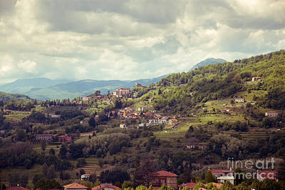 Barga In Alpi Apuane Mountains Tuscany Art Print
