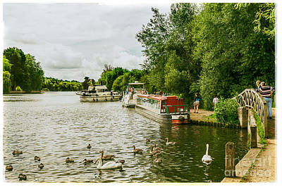 Photograph - Barges And Boats On The River Thames Marlow by Lenny Carter