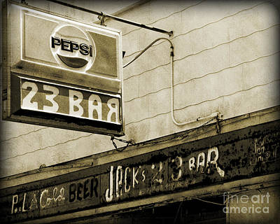 Photograph - Barhopping At Jacks 2 by Lee Craig