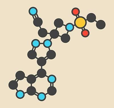 Janus Photograph - Baricitinib Janus Kinase Drug Molecule by Molekuul