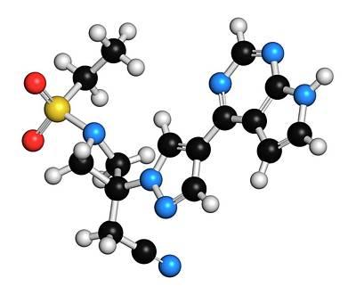 Janus Photograph - Baricitinib Janus Kinase Inhibitor Drug by Molekuul