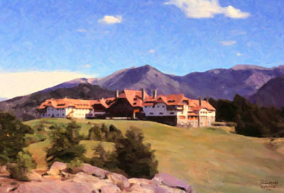 Art Print featuring the painting Bariloche Argentina 1956 by Spyder Webb
