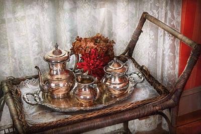 Barista - Tea Set - Morning Tea  Print by Mike Savad