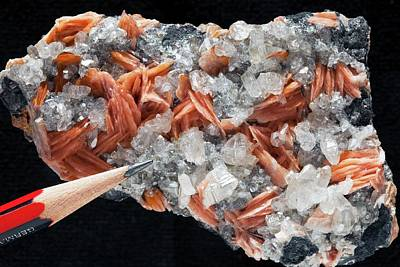Crystalline Photograph - Barite On Cerusite II by Dirk Wiersma