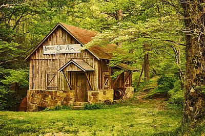 Barker Digital Art - Barker's Creek Grist Mill by Priscilla Burgers