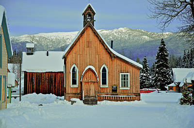 Barkerville Historic Town In Winter Art Print