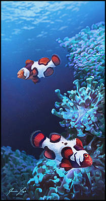 Clownfish Digital Art - Barking Picassos by Javier Lazo