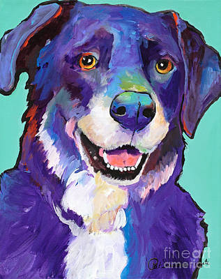 Pat Saunders-white Dog Painting - Barkley by Pat Saunders-White
