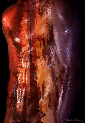 Sensual Digital Art - Barmuda Metallic   by Mark Ashkenazi