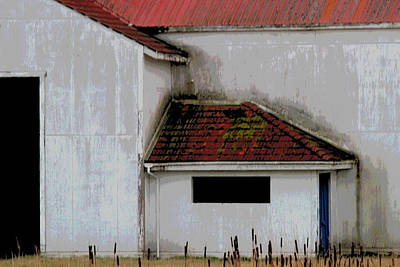 Photograph - Barn - Geometry - Red Roof by Marie Jamieson