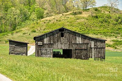 Photograph - Barn - Tire Center by Mary Carol Story