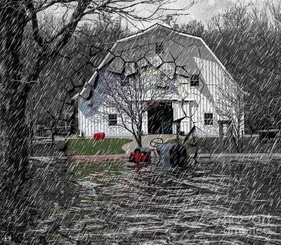 Photograph - Barn - All Cracked Up by Liane Wright