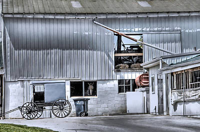 Photograph - Barn And Buggy by Dyle   Warren