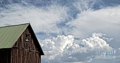 Art Print featuring the photograph Barn And Clouds by Joseph J Stevens