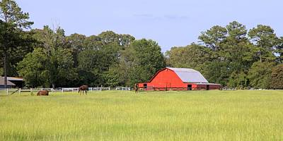 Photograph - Barn And Pasture by Gordon Elwell
