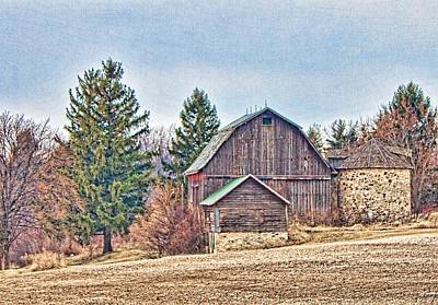Photograph - Barn And Silo by Daniel Sheldon