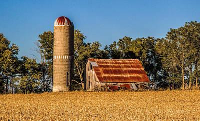 Photograph - Barn And Silo  by Deb Buchanan