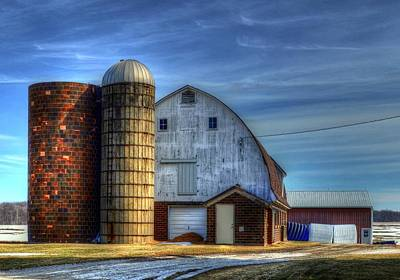 Barn And Silos Art Print