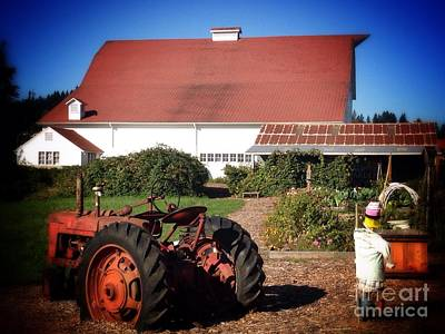 Photograph - Barn And Tractor by Susan Garren