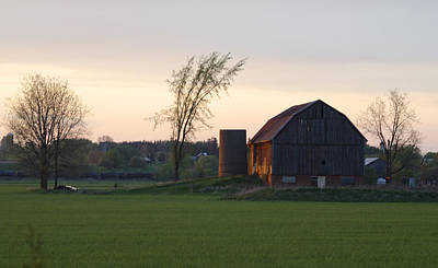 Barn At Dusk Art Print