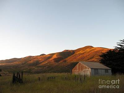 Barn At Garrapata State Park Art Print