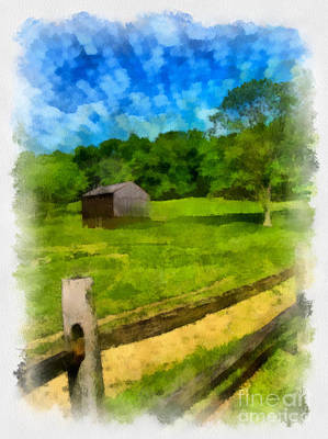 Barn At Hartwood Acres Art Print