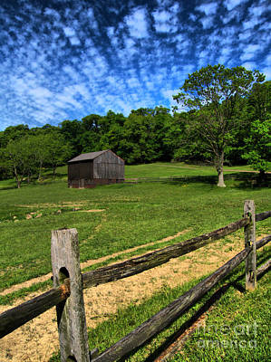 Barn At Hartwood Acres Under Beautiful Sky Print by Amy Cicconi