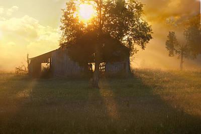 Photograph - Barn At Sunrise by Byron Jorjorian
