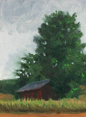 Oneida Painting - Barn At Thoreson Farm by Charles Pompilius