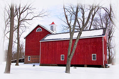 Barn At Tinicum Park Art Print