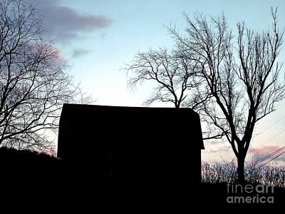 Photograph - Barn At Twilight by Christian Mattison