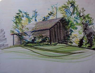 Pastel - Old Barn At Wason Pond by Sean Connolly