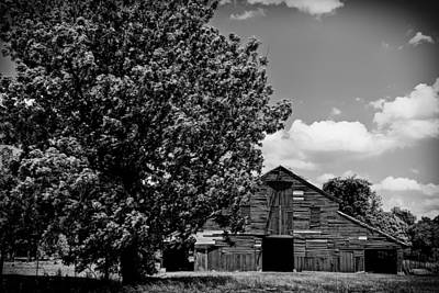 Photograph - Barn Baton Rouge La  Black And White Dsc04443 by Greg Kluempers