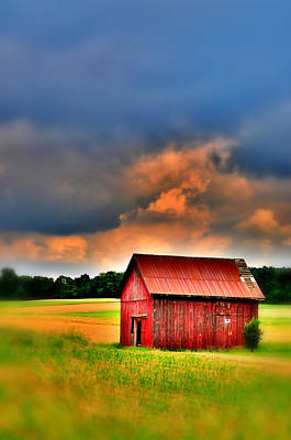 Farm Scenes Photograph - Barn Before The Storm 2 by Emily Stauring