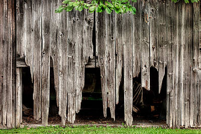Photograph - Barn Boards - Rustic Decor by Gary Heller
