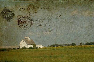Barn Carte Postale Art Print by Cassie Peters