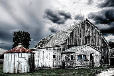 Photograph - Barn Cool Tone by Michael Arend