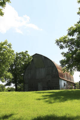 Photograph - Prairie Barn With Gothic Roof by Corey Haynes