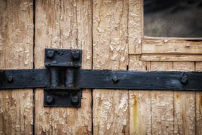Photograph - Barn Door Hinge by James Barber