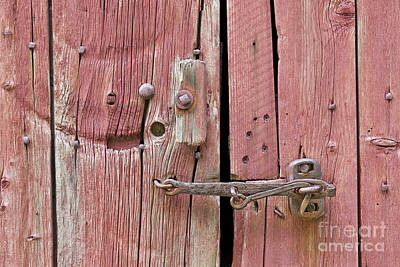 Photograph - Barn Door Latch by Alan L Graham