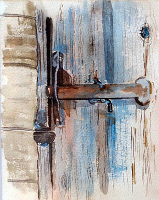 Barn Door Latch Art Print