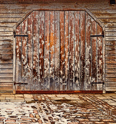 Photograph - Barn Door by Les Palenik