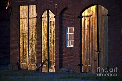 Barn Door Lighting Art Print by Heiko Koehrer-Wagner