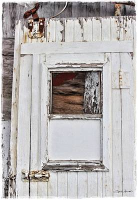 Blue Barn Doors Digital Art - Barn Door by Sylvia Thornton