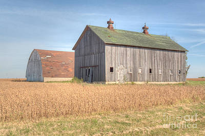 Photograph - Barn Duo by Deborah Smolinske