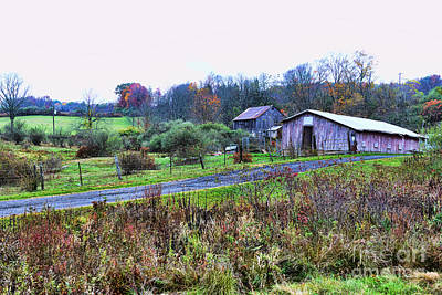 Cornfield Photograph - Barn - End Of The Road by Paul Ward